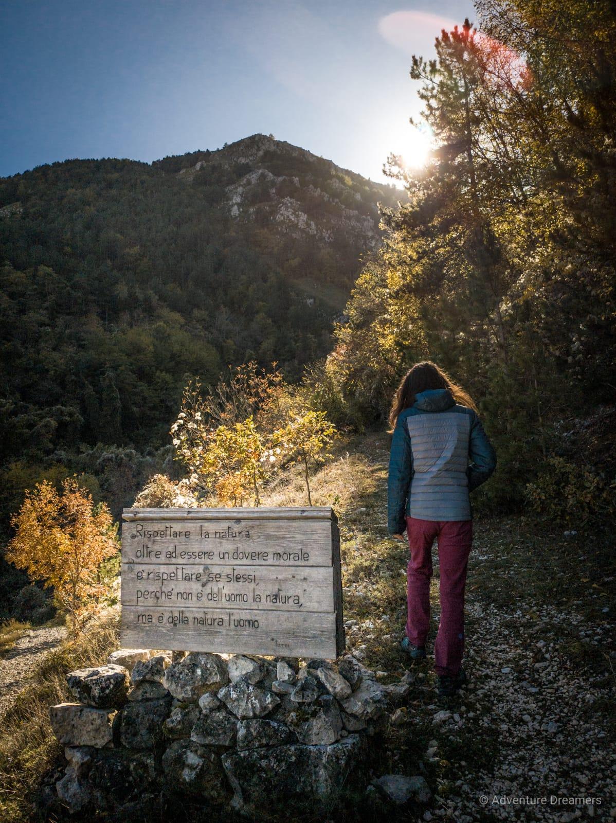 Rispettare la natura in cammino