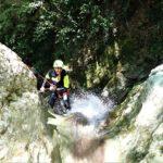canyoning forra del casco cascata