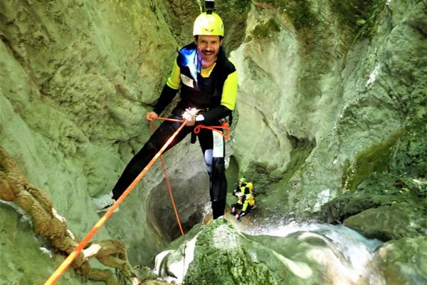 canyoning forra del casco calata in corda